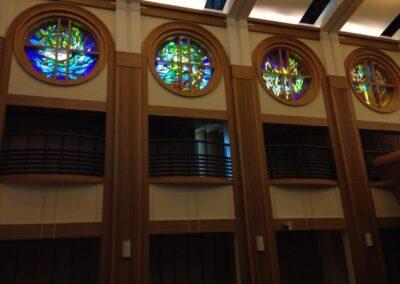 Chapel round windows