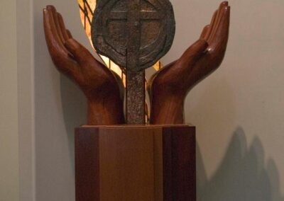 ST. JAMES CATHOLIC CHURCH Davis, California - Hand carved in Honduras mahogany.