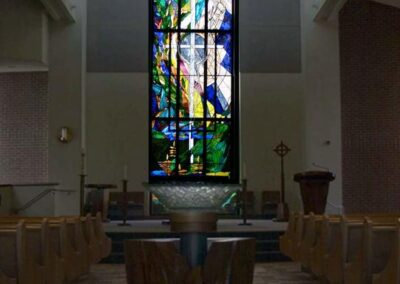 ST. MARK'S LUTHERAN CHURCH Fairfield, California - All of Hogan Studios baptismal fonts are uniquely designed to give the sense of our new life in Christ that we have through baptism.