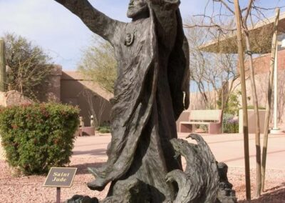 ST. PATRICK CATHOLIC COMMUNITY Scottsdale, Arizona - This statue was sculpted by Arthur Schwartz, which included inspiration conceptional by Roger Hogan.